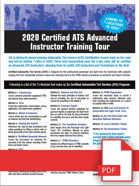 ATS Adanced Instructor Training Tour